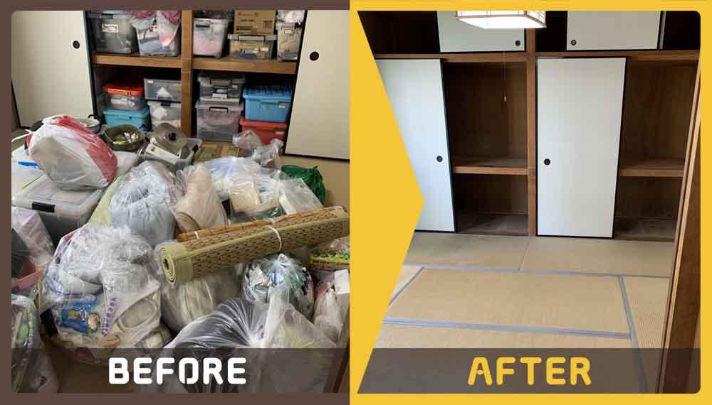 引っ越しの準備をしていて出た大量の不用品の処理にお困りのお客様からご依頼いただきました。