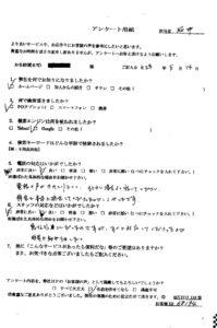 福井市にて引っ越しに伴う不用品の回収処分のご依頼 お客様の声