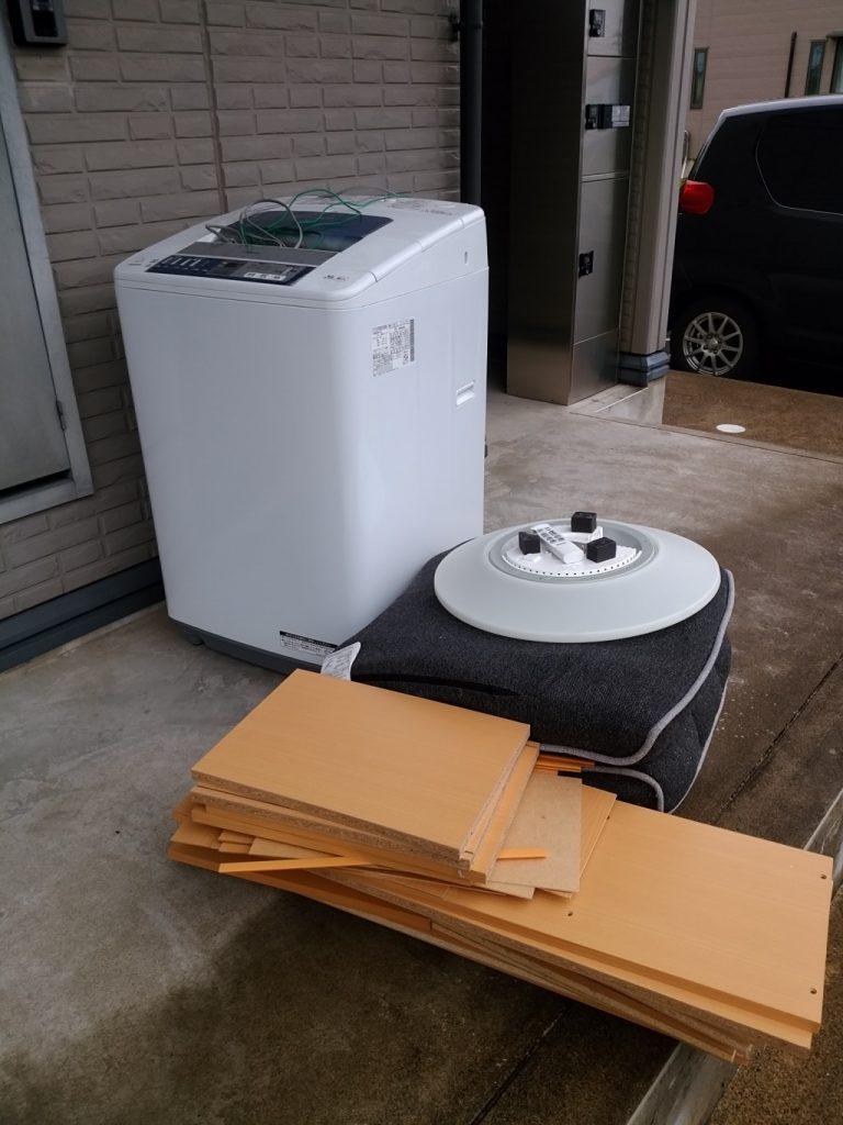 【文京区】遺品整理に伴い洗濯機や座椅子の不用品処分・回収のご依頼 お客様の声