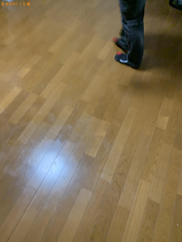 【福井市】四人用ダイニングテーブル、セミダブルマットレス等の回収