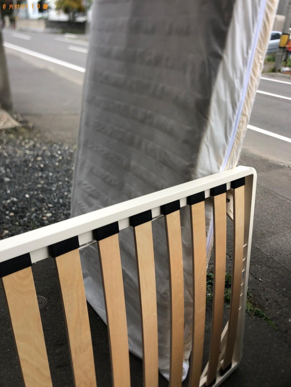 【福井市】マットレス付きシングルベッドの回収・処分ご依頼