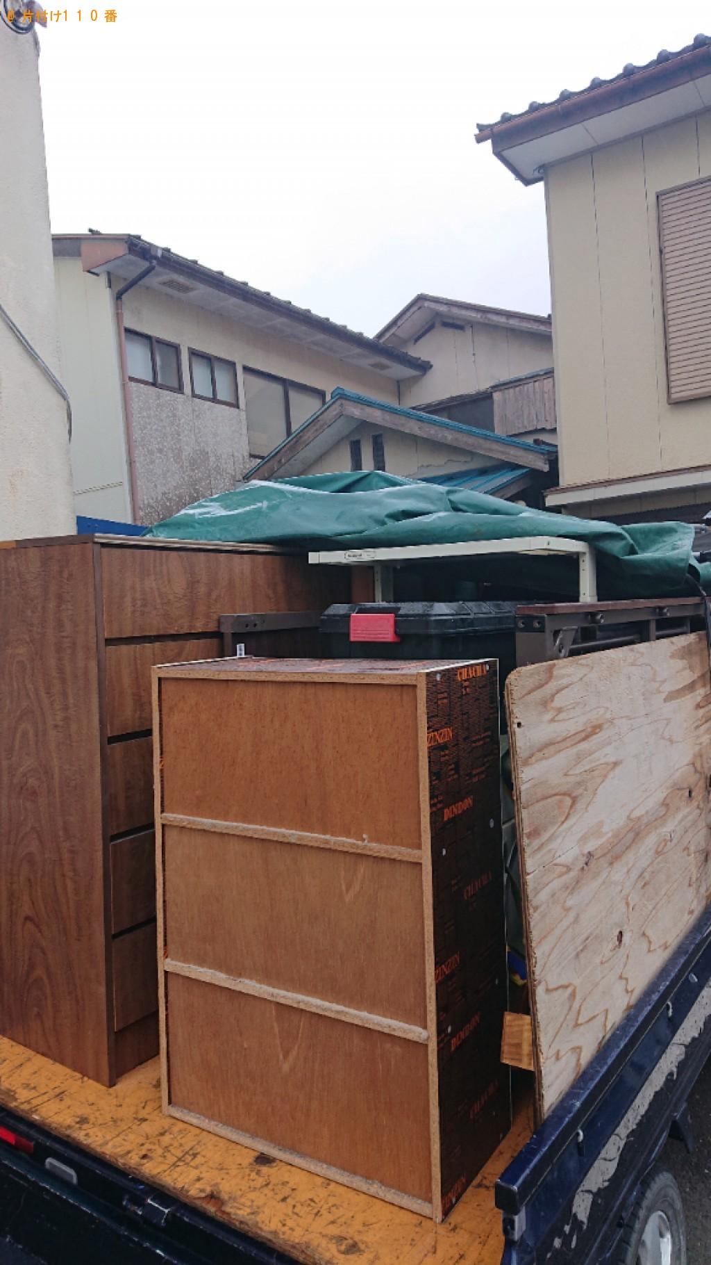 【小浜市後瀬町】洗濯機、タンス、布団、衣類、衣類乾燥機等の回収