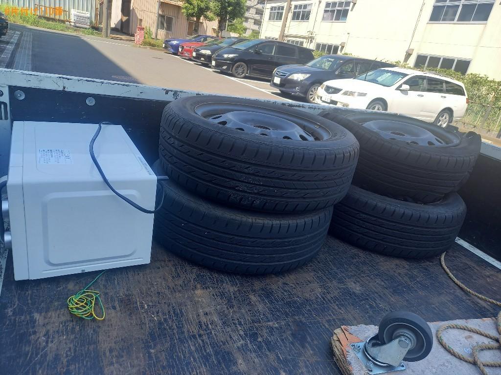 ラック、自動車タイヤ、電子レンジ、ワイヤーネットの回収・処分